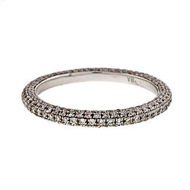 Peter Suchy Platinum Micro Pave .75ctw Diamond Band Eternity Ring Size 6.25
