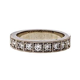 Platinum 0.50ct Diamond Band Ring Size 6