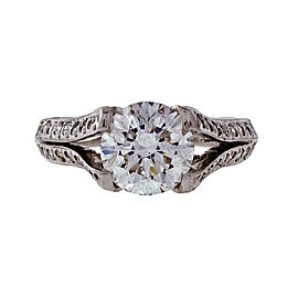 Peter Suchy Platinum with 1.60ct Diamond and 0.44ct Round Diamonds Engagement Ring Size 6.5