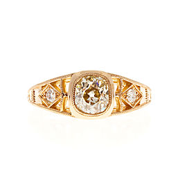 18K Pink Gold with 1.00ct Diamond Ring Size 5.5