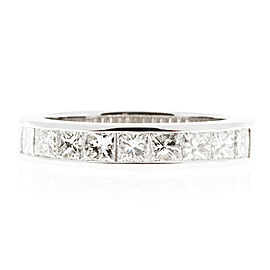 Platinum with 1.25ct Diamond Channel Band Ring Size 6.5