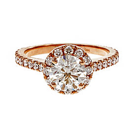 Peter Suchy 14K Rose Gold with 1.80ct. Diamond Engagement Ring Size 6.25