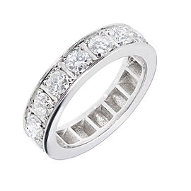 Platinum 1.95ct Diamond Wedding Band Ring Size 8.75