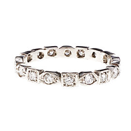 Platinum with Diamond Eternity Band Ring Size 7.75