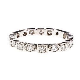 Platinum with Diamond Eternity Band Ring Size 7.75