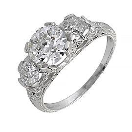 Platinum Old European Cut Diamond Ring Size 7