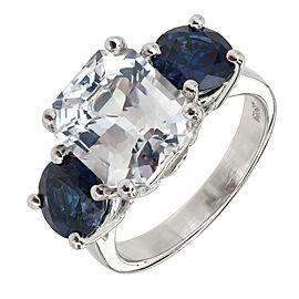 Platinum 8.45ct Sapphire Ring Size 6