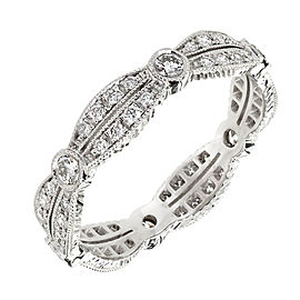 Platinum Diamond Eternity Band Ring Size 7
