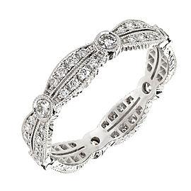Platinum Diamond Eternity Band Ring Size 7