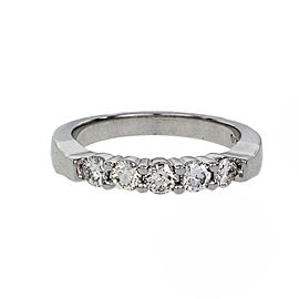 Peter Suchy 14K White Gold with 0.50ct. Diamond Wedding Band Ring Size 5.75