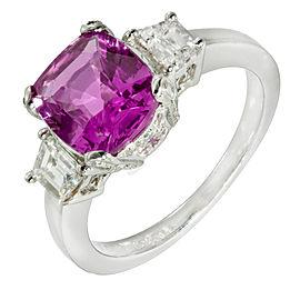 950 Platinum 2.76ct Sapphire & Diamond Natalie K Ring Size 6.75