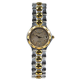 Longines Stainless Steel and Gold Plated Quartz 25mm Womens Watch