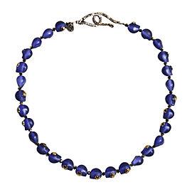 Shebee Purple Resin with Swarovski Crystal Skull Necklace