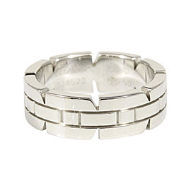 Cartier 18K White Gold Tank Francaise Band Ring Size 5.5