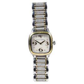 "David Yurman ""Thoroughbred"" 18K Gold/Stainless Steel Womens Watch"