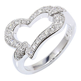 Piaget 18K White Gold with Diamond Heart Ring Size 5