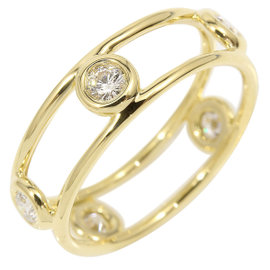 Tiffany & Co. 18K Yellow Gold & 5P Diamond Double Wire Ring Size 5