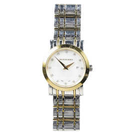 Burberry Heritage BU1375 Stainless Steel and Gold Tone Mother of Pearl & Diamonds Womens Watch