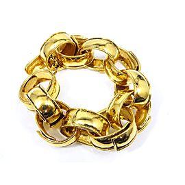 Chanel Gold Tone Hardware CC Logo Coco Mark Chain Bracelet