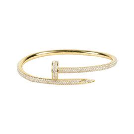 "Cartier 18K Yellow Gold and Diamond ""Juste Un Clou"" Bangle Bracelet"