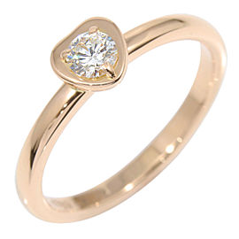 Cartier Diamants Légers 18K Rose Gold Diamond Heart Ring Size 4.5