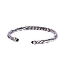 David Yurman Cable Classics 925 Sterling Silver Black Onyx Bracelet