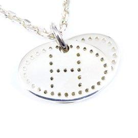 Hermes Evelyne Eclipse 925 Sterling Silver Pendant Necklace