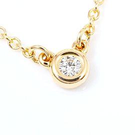 Tiffany & Co. Elsa Peretti Diamonds by the Yard 18K Rose Gold Diamond Pendant Necklace
