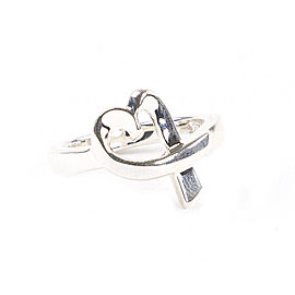Tiffany & Co. Paloma Picasso Sterling Silver Loving Heart Ring Size 6.5
