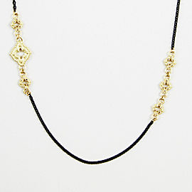 Armenta Blackened 925 Sterling Silver 18K Yellow Gold 0.42ctw Diamond Necklace