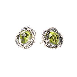 David Yurman 925 Sterling Silver with Peridot Earrings