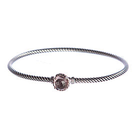 David Yurman Chatelaine Sterling Silver with Morganite Bracelet