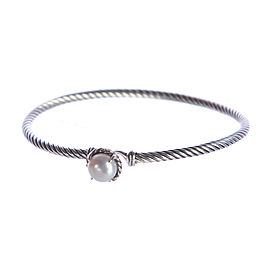 David Yurman Chatelaine Sterling Silver with Pearl Bracelet