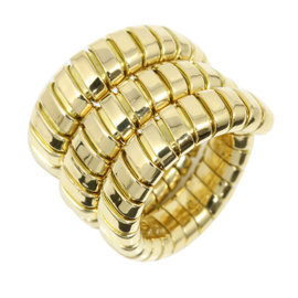 Bulgari Tubogas 18K Yellow Gold Ring 4