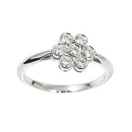 Tiffany & Co. 950 Platinum with Diamond Garden Flower Ring Size 6