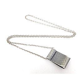 Bottega Veneta 925 Sterling Silver Intrecciato Necklace