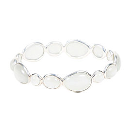 "Ippolita ""Rock Candy"" Sterling Silver with Moonstone Oval Bangle Bracelet"