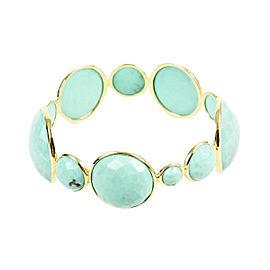 Ippolita Lollipop 18K Yellow Gold Turquoise Bangle Bracelet