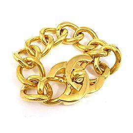 Chanel Gold Tone CC Logo Bracelet