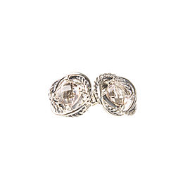 David Yurman Infinity Sterling Silver Morganite Earrings