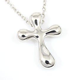 Tiffany & Co. Platinum Elsa Peretti Cross Pendant Necklace