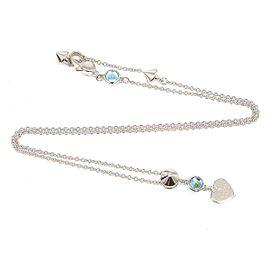 Gucci Sterling Silver Topaz Pendant Necklace
