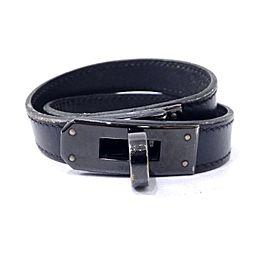 Hermès Leather Black Bracelet