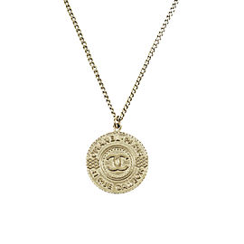 Chanel 31 Rue Cambon Gold Tone Metal Pendant Necklace