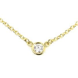 Tiffany & Co. Elsa Peretti Diamonds by the Yard 18K Yellow Gold Diamond Necklace