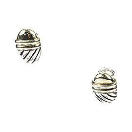 David Yurman 14K Yellow Gold & Sterling Silver Cable Earrings
