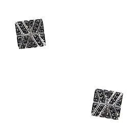 John Hardy Sterling Silver Black Sapphire & Spinel Stud Earrings