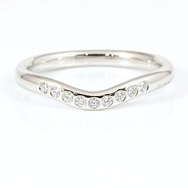 Tiffany & Co. Platinum Diamond Wedding Ring Size 4.5