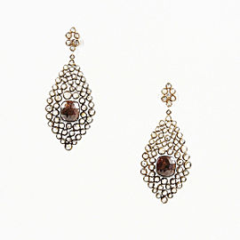 Khushboo Lahki 14K Rose Gold with Diamond Earrings