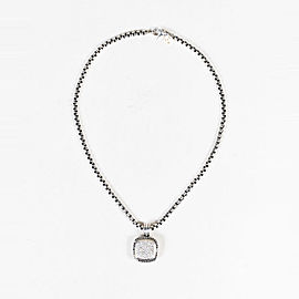 "David Yurman Sterling Silver with 1.13ctw Diamonds ""Albion"" Pendant Necklace"